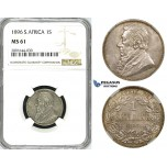 ZK27, South Africa (ZAR) 1 Shilling 1896, Silver, NGC MS61, Rare!
