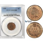 ZK39, United States, Indian Head Cent 1888, PCGS MS63RB