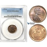 ZK43, United States, Lincoln Cent 1916, PCGS MS64RB