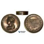 ZK74, Spain, Ferdinand VII, Bronze Box Medal 1820 (Ø71mm, 65.9g) by Henrionnet, Constitution, Rare!