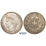 ZK78, Switzerland, 5 Francs 1909-B, Bern, Silver, Toned VF-XF