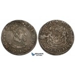ZK83, Poland, Danzig, Sigismund III, Ort 1618 S-B, Silver, Toned VF