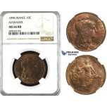 ZL11, France, Third Republic, 10 Centimes 1898, Paris, NGC MS66RB