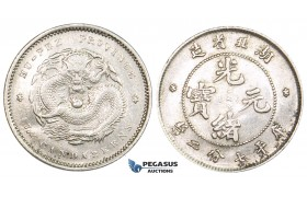 ZL40, China, Hupeh, 10 Cents ND (1895-1907) Silver, L&M 185, Cleaned aXF
