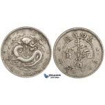 ZL41, China, Yunnan, 3 Mace 6 Candareens (50 Cents) 1907, Silver, L&M 419, VF-XF
