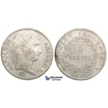 ZL48, France, Napoleon I, 5 Francs 1812-A, Paris, Silver, XF, Cleaned
