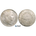 ZL49, France, Napoleon I, 5 Francs 1812-A, Paris, Silver, gXF, Cleaned