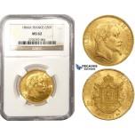 ZL50, France, Napoleon III, 50 Francs 1866-A, Paris, Gold, NGC MS62