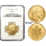 ZL51, France, Napoleon III, 50 Francs 1866-A, Strasbourg, Gold, NGC MS62