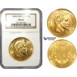 ZL66, France, Napoleon III, 100 Francs 1868-A, Paris, Gold, NGC MS62