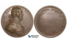 ZL67, France & Poland, Bronze Medal 1735 (Ø51mm, 31.52g) by Duvivier, War of Succession