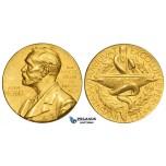 ZL76, Sweden, Alfred Nobel Award Committee, Gold Medal 1975 (Ø 26mm, 20.08g) Swedish Medical Society (Medicine) Rare!