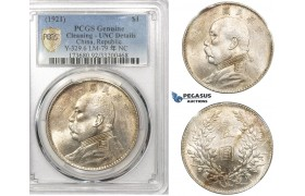 "ZL78, China, ""Fat Man"" Dollar Yr. 10 (1921) Silver, L&M 79, PCGS UNC Details"