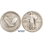 ZM05, United States, Standing Liberty Quarter (25C) 1919-D, Denver, Silver, Fine, Rare!