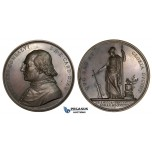 ZM10, Italy, Bronze Medal 1824 (Ø 54mm, 101.0g) by Girometti, Death of Cardinal Consalvi, Owl, Minerva