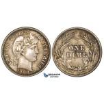 ZM13, United States, Barber Dime (10C) 1900, Philadelphia, Silver, Toned Mint State