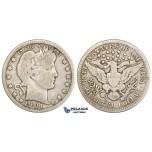ZM15, United States, Barber Quarter (25C) 1901-O, New Orleans, Silver, Fine, Rare!