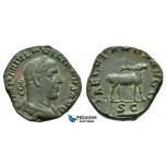 ZM174, Roman Empire, Philip I, Æ Sestertius (14.49g) Rome, 248 AD, 1000th anniversary of Rome, Stag