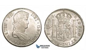 ZM194, Bolivia, Ferdinand VII, 8 Reales 1820 PTS PJ, Potosi, Silver, Lustrous AU-UNC