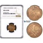 ZM41, Danish West Indies, Christian IX, 1/2 Cent (2 1/2 Bit) 1905, Copenhagen, NGC MS63BN