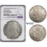 ZM43, France, Louis XV, Ecu 1764-Cow, Pau, Silver, NGC UNC Details