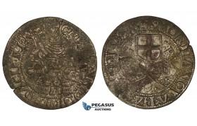 ZM738, Denmark, Christian III, 2 Skilling 1536, Copenhagen, Silver (1.46g) H 3, Flaws and cracks, F-VF