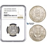 ZM743, Estonia, 1 Kroon 1933, Silver, NGC MS64
