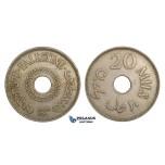 ZM756, Palestine, 20 Mils 1934, London, XF, Rare!