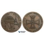 ZM782, Germany & France, Bronze Medal 1914 (Ø54mm, 58.4g) WW1 Entry of Troops in Paris