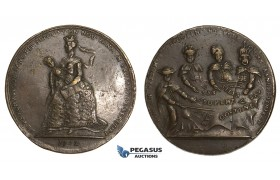 ZM876, Austria & Germany, Maria Theresia, Bronze Satirical Medal 1742 (Ø43mm, 15.02g)