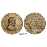 ZM884, Italy, Bronze Medal 1899 (Ø39mm, 26.2g) by Johnson, Como Shooting Contest