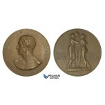 ZM887, Italy, Bronze Medal 1922 (Ø44mm, 38.2g) by Mistruzzi, Antonio Canova, Nude Art