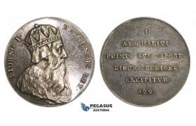 ZM892, Sweden, Silver Medal (c. 1700) (Ø32mm, 12.02g) by Hedlinger, King Bjorn I
