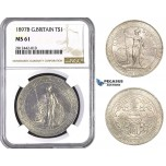 AA052, Great Britain, Trade Dollar 1897-B, Bombay (Not vissible) Silver, NGC MS61