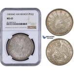 AA056, Mexico, Peso 1903 Mo AM, Mexico City, Silver, NGC MS65