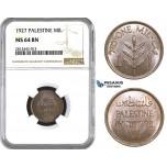 AA060, Palestine, 1 Mil 1927, London, NGC MS64BN