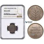 AA061, Palestine, 1 Mil 1939, London, NGC MS62BN