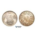 AA092, Switzerland, 1/2 Franc 1898-B, Bern, Silver, Ch UNC