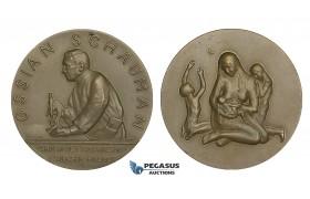 AA180, Finland & Sweden, Bronze Medal 1948 (Ø55.5mm, 85g) Ossian Schauman, Medicine, Nude Art