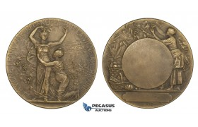 AA182, France & United States, Bronze Art Nouveau Medal by Rivet (Ø50mm, 53.6g) Viticulture