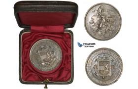 AA189, Austria, Silver Medal 1882 (Ø33mm, 16.7g) by Scharff, St. Pölten Shooting Contest, Rare!