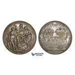 AA197, Netherlands & France, Cast Silver Medal 1678 (Ø66.7mm, 40.6g) by Dishoecke, Peace of Nijmegen, Rare!!