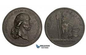AA206, Sweden, Iron Medal 1814 (Ø38mm, 17g) by Frumerie, David Schulzenheim, Medicine, Owl