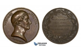 AA207, Sweden, Bronze Medal 1835 (Ø49mm, 64.8g) by Lundgren, Swedish Medical Society