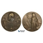 AA216, Sweden, Bronze Medal 1906 (Ø50mm, 66.7g) by Lindberg, Masonic Lodge, Egyptian Sphinx