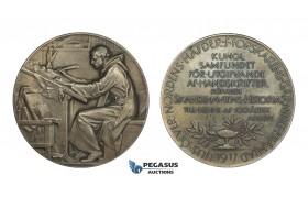 AA222, Sweden, Silver Medal 1917 (Ø55.5mm, 84.2g) by Lindberg, Scandinavian History, Swastika