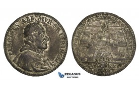 AA233 Switzerland, Aargau, Cast Tin 5 Ducats 1720 (Ø35mm, 13.3g) by Gessner
