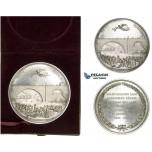 AA235, Switzerland, Silver Medal 1844 (Ø58mm, 86.2g) by Aberli, Nydegg Bridge Inauguration, RR!!