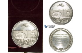AA235, Switzerland, Silver Medal 1844 (Ø58mm, 86.2g) by Aberli, Nydegg Bridge Inauguration, RR!!