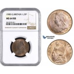 AA245, Great Britain, Victoria, Half Penny 1900, NGC MS64RB